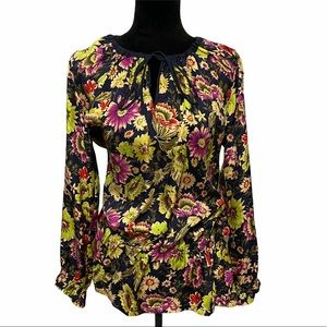 Johnny Was Silk Top Floral Size XS